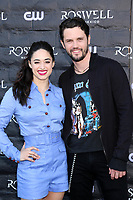 "WEST HOLLYWOOD, CA - JANUARY 10:  Jeanine Mason, Nathan Parsons at the ""Roswell, New Mexico"" Experience at the 8801 Sunset Blvd on January 10, 2019 in West Hollywood, CA Credit: David Edwards/MediaPunch"