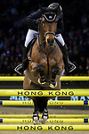 Gerco Schroder of The Netherlands riding Glock's Lausejunge competes in the Longines Grand Prix during the Longines Masters of Hong Kong at AsiaWorld-Expo on 11 February 2018, in Hong Kong, Hong Kong. Photo by Ian Walton / Power Sport Images