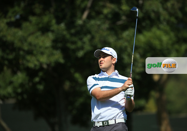 Daniel Brooks (ENG) plays approach shot to the last for the lead of the field  during the completion of Round Two of the 2016 BMW SA Open hosted by City of Ekurhuleni, played at the Glendower Golf Club, Gauteng, Johannesburg, South Africa.  09/01/2016. Picture: Golffile | David Lloyd<br /> <br /> All photos usage must carry mandatory copyright credit (&copy; Golffile | David Lloyd)