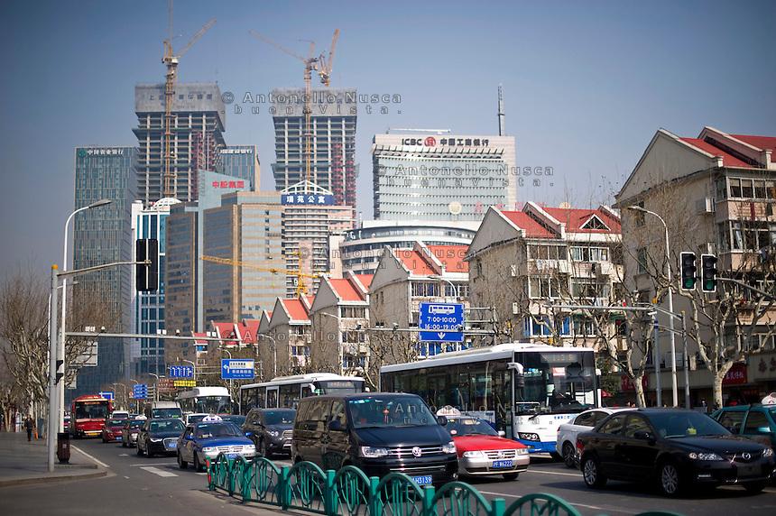 Urbanizzazione della citt&agrave; di Shanghai.<br /> Shanghai's urbanization