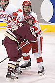(Brandon Yip) Nathan Gerbe, Chris Higgins - The Boston University Terriers defeated the Boston College Eagles 2-1 in overtime in the March 18, 2006 Hockey East Final at the TD Banknorth Garden in Boston, MA.