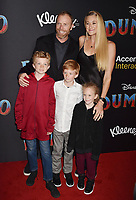 HOLLYWOOD, CA - MARCH 11: Kerri Walsh Jennings (R rear) and family attend the premiere of Disney's 'Dumbo' at El Capitan Theatre on March 11, 2019 in Los Angeles, California.<br /> CAP/ROT/TM<br /> &copy;TM/ROT/Capital Pictures