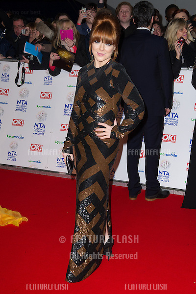 Sheridan Smith arriving for the National TV Awards 2014, at the O2, London. 22/01/2014 Picture by: Dave Norton / Featureflash