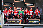 Team Sunweb at sign on before Stage 7 of the 78th edition of Paris-Nice 2020, running 166.5km from Nice to Valdeblore La Colmiane, France. 14th March 2020.<br /> Picture: ASO/Fabien Boukla | Cyclefile<br /> All photos usage must carry mandatory copyright credit (© Cyclefile | ASO/Fabien Boukla)