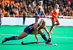 ROTTERDAM - Ashley Hoffman (USA)  tijdens de Pro League hockeywedstrijd dames, Nederland-USA  (7-1) .)  COPYRIGHT  KOEN SUYK