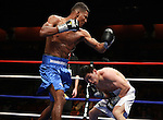 Connecticut United States April 21: Breidis prescott of colombia vs Bayan Jargal of Mongolia  during the  fight   Light-Welterweight  in at the Mohegan Sun Casino, Uncasville arenaApril 23, 2011, (