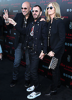 WEST HOLLYWOOD, CA, USA - SEPTEMBER 21: John Varvatos, Ringo Starr, Barbara Bach arrive at the John Varvatos #PeaceRocks Ringo Starr Private Concert held at the John Varvatos Boutique on September 21, 2014 in West Hollywood, California, United States. (Photo by Xavier Collin/Celebrity Monitor)