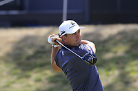 Jonas Kolbing (GER) tees off the 18th tee during Saturday's Round 3 of the Porsche European Open 2018 held at Green Eagle Golf Courses, Hamburg Germany. 28th July 2018.<br /> Picture: Eoin Clarke | Golffile<br /> <br /> <br /> All photos usage must carry mandatory copyright credit (&copy; Golffile | Eoin Clarke)