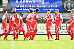 2018-08-11 / Voetbal / Seizoen 2018-2019 / Beker van Belgi&euml; / Hoogstraten VV - Wevelgem City / Hoogstraten viert de 1-0<br /> <br /> ,Foto: Mpics