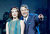 Mack and mabel <br /> Music and Lyrics by JERRY HERMAN Book by MICHAEL STEWART<br /> at the Festival Theatre, Chichester, Great Britain <br /> Press photocall <br /> 20th July 2015 <br /> <br /> <br /> Michael Ball as Mack Sennett<br /> <br /> Rebecca LaChance as Mabel Normand <br /> <br /> <br /> <br /> <br /> Book revised by FRANCINE PASCAL<br /> <br /> <br /> Photograph by Elliott Franks <br /> Image licensed to Elliott Franks Photography Services