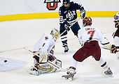 John Muse (BC - 1), Brendan Mason (Yale - 22), Carl Sneep (BC - 7) - The Boston College Eagles defeated the Yale University Bulldogs 9-7 in the Northeast Regional final on Sunday, March 28, 2010, at the DCU Center in Worcester, Massachusetts.