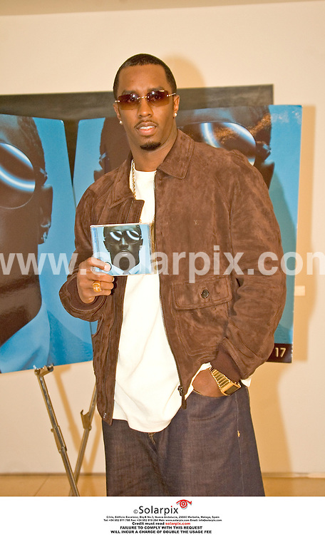 ALL ROUND PICTURES BY SOARPIX.COM.**MUST CREDIT SOLARPIX.COM OR DOUBLE FEE WILL B E CHARGED**.13.10.06 P Diddy (Sean Combs) Press Conference held at the Park Hyatt in Chicago  to promote his first album in 5 years. Press Play is due out 17.10.06. ..DATE:-19_10_06-JOB REF:2939-PHZ