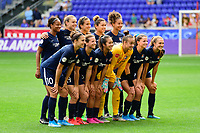 HARRISON, NJ - SEPTEMBER 29: Sky Blue FC starting XI during a game between Orlando Pride and Sky Blue FC at Red Bull Arena on September 29, 2019 in Harrison, New Jersey.