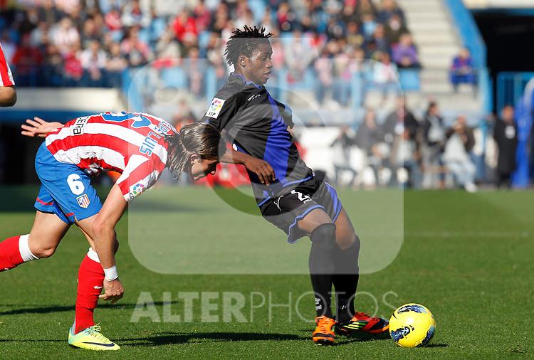Madrid (04/12/2011).- Estadio Vicente Calderon..LIGA BBVA 15ª Jornada.Atletico de Madrid - Rayo Vallecano..Lass B.......