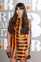 Zara Martin at The BRIT Awards 2017 at The O2, Peninsula Square, London on February 22nd 2017<br /> CAP/ROS<br /> &copy; Steve Ross/Capital Pictures /MediaPunch ***NORTH AND SOUTH AMERICAS ONLY***