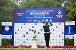 Fahmi Reza of Indonesia tees off on the 1st hole during the Round 1 of the Faldo Series Asia Grand Final at Mission Hills on March 2, 2011 in Shenzhen, China. Photo by Raf Sanchez / Faldo Series