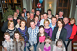 Dave Griffin(front centre)Caherleaheen,Tralee,celebrated his 40th birthday in Gally's bar/restaurant,Castlemaine Rd,Tralee,last Saturday night surrounded by many friends and family