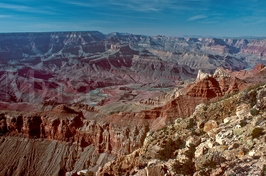 Looking over the South Rim of the Grand Canyon