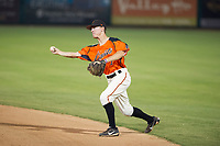 AZL Giants second baseman Kyle McPherson (7) on defense during Game Three of the Arizona League Championship Series against the AZL Cubs on September 7, 2017 at Scottsdale Stadium in Scottsdale, Arizona. AZL Cubs defeated the AZL Giants 13-3 to win the series two games to one. (Zachary Lucy/Four Seam Images)
