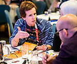 Discussions during Dane Jensen's presentation on leadership at the CPC Paralympic Summit 2018 at the Palliser Hotel in Calgary, Alberta on November 15, 2018.