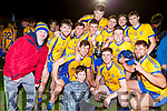 Beaufort players celebrate after beating Dromtarriffe in the Munster Junior final in Mallow on Sunday