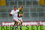 Johnny Buckley, Kerry in Action Against Aidan McCrory, Tyrone in the All Ireland Semi Final at Croke Park on Sunday.