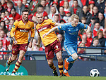 Gary Mackay-Steven with Liam Grimshaw and Ryan Bowman