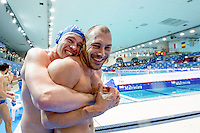 (L to R) Baraldi, Figlioli ITA ITA<br /> FINA Men's Water Polo Olympic Games Qualifications Tournament 2016<br /> quarter final<br /> Romania ROU (White) Vs Italy ITA (Blue)<br /> Trieste, Italy - Swimming Pool Bruno Bianchi<br /> Day 06  08-04-2016<br /> Photo G.Scala/Insidefoto/Deepbluemedia