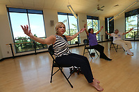 July 25, 2018. Carlsbad CA. USA. | Dance class at Tri-City Wellness Center.