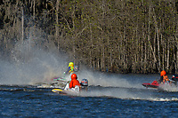 Frame 8: Serena Durr 96-F, Erin Pittman 6-H crash. (Outboard Hydroplanes)