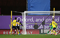 4th February 2020; Kassam Stadium, Oxford, Oxfordshire, England; English FA Cup Football; Oxford United versus Newcastle United; Nathan Holland of Oxford shoots and scores in extra time to bring the score level 2-2