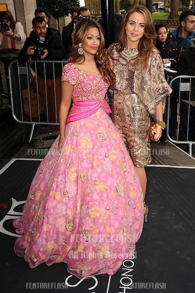 Tasmin Lucia Khan and Lydia Bright arrives for The Asian Awards 2014 at the Grosvenor House Hotel, London. 04/04/2014 Picture by: Steve Vas / Featureflash