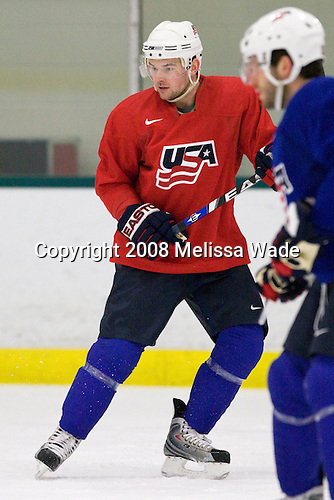 "Patrick O'Sullivan (USA 9 - Los Angeles Kings/Mississauga IceDogs) - Team USA practiced and then held a skate with the fans to benefit ""Opportunity Skate"" at the Family Ice Center in Falmouth, Maine on Saturday, April 26, 2008."
