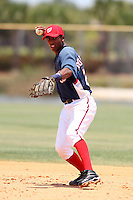 GCL Nationals Johan Rodriguez #25 during a game against the GCL Mets at the Washington Nationals Minor League Complex on June 20, 2011 in Melbourne, Florida.  The Nationals defeated the Mets 5-3.  (Mike Janes/Four Seam Images)