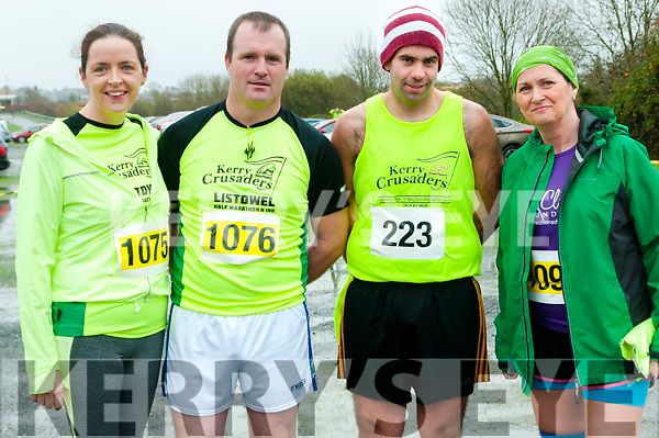 Listowel Half Marathon & 10k: Pictured at the Listowel half marathon & 10k  organised by the Kerry Crusaders in Listowel on Saturday morning last were Caroline & Steohen Foley, Ivan Tydings & Marie Hadley.