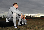 Dec 10, 2014; Cheney, WA, USA,  -- Former Eastern Washington Eagles quarterback Vernon Adams calls down after a practice at Cheney Middle School. Adams is unable to participate in any of the Eagles football activities while he waits to graduate and transfer to the University of Oregon. He will be join the Oregon program come mid June. Mandatory Credit: James Snook-Photo by USA TODAY  Sports Images, Gannett