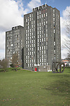 Student accommodation in tower blocks University of Essex, Colchester, England