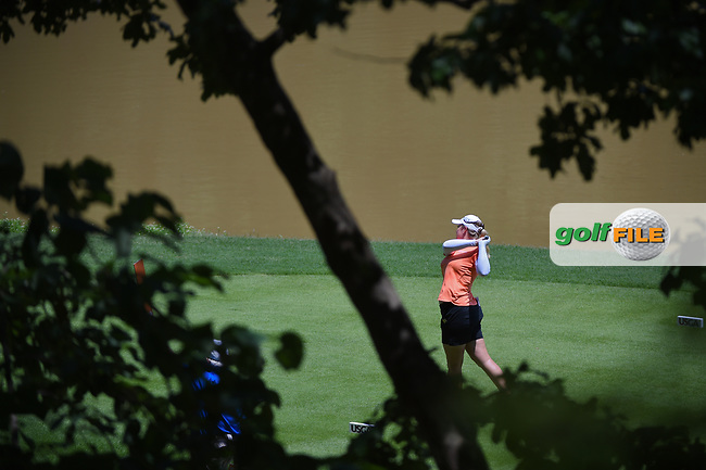 Brittany Lincicome (USA) watches her tee shot on 10 during round 3 of the U.S. Women's Open Championship, Shoal Creek Country Club, at Birmingham, Alabama, USA. 6/2/2018.<br /> Picture: Golffile | Ken Murray<br /> <br /> All photo usage must carry mandatory copyright credit (© Golffile | Ken Murray)