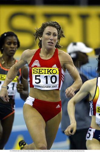 510. STEPHANIE GRAF (AUT), Women's 800m Heat, IAAF World Indoor Championships, Birmingham National Indoor Arena 030314. Photo: Glyn Kirk/Action Plus...2003.athletics track and field athlete athletes woman women runner