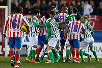 03.02.2013 SPAIN -  La Liga 12/13 Matchday 22th  match played between Atletico de Madrid vs Real Betis Balompie (1-0) at Vicente Calderon stadium. The picture show