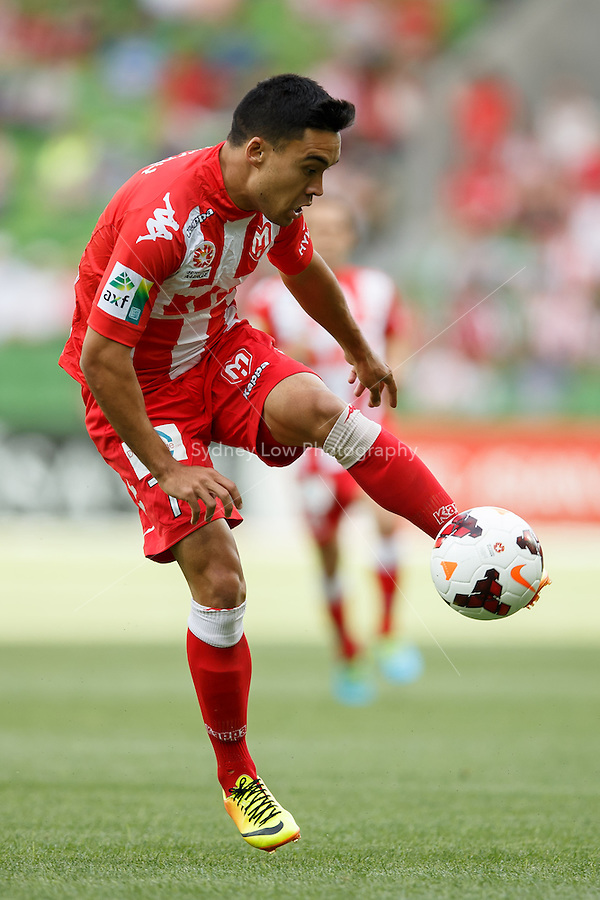 Iain RAMSAY of the Heart controls the ball in the round eight match between Melbourne Heart and Adelaide United in the Australian Hyundai A-League 2013-24 season at AAMI Park, Melbourne, Australia. Photo Sydney Low/Zumapress<br /> <br /> This image is not for sale on this web site. Please visit zumapress.com for licensing