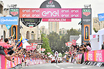 World Champion Tom Dumoulin (NED) Team Sunweb wins Stage 1 of the 101st edition of the Giro d'Italia 2018 an individual time trial of 9.7km around Jerusalem, Israel. 4th May 2018.<br /> Picture: LaPresse/Fabio Ferrari | Cyclefile<br /> <br /> <br /> All photos usage must carry mandatory copyright credit (&copy; Cyclefile | LaPresse/Fabio Ferrari)