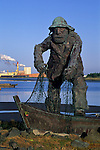 Statue of a fisherman at the Eureka Harbor, Humboldt County, CALIFORNIA