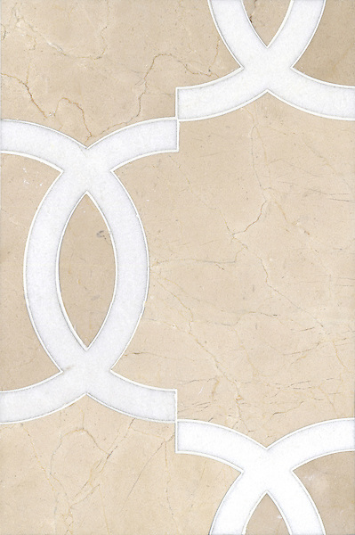 Name: Seine<br /> Style: Contemporary<br /> Product Number: CB0839<br /> Description: Seine in Thassos, Crema Marfil (p)