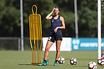 CARY, NC - AUGUST 17: Ashley Hatch. The North Carolina Courage held a training session on August 17, 2017, at WakeMed Soccer Park Field 3 in Cary, NC.