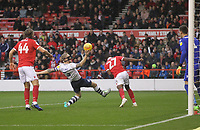 Preston North End's Tom Clarke tries to get an effort on goal<br /> <br /> Photographer Mick Walker/CameraSport<br /> <br /> The EFL Sky Bet Championship - Nottingham Forest v Preston North End - Saturday 8th December 2018 - The City Ground - Nottingham<br /> <br /> World Copyright © 2018 CameraSport. All rights reserved. 43 Linden Ave. Countesthorpe. Leicester. England. LE8 5PG - Tel: +44 (0) 116 277 4147 - admin@camerasport.com - www.camerasport.com