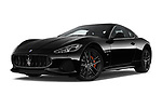 Stock pictures of low aggressive front three quarter view of a 2018 Maserati GranTurismo Sport 2 Door Coupe