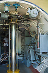 Inside of a small submarine cutaway, Pearl Harbor, Oahu, Hawaii