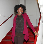 Adriane Lenox backstage at Encores! 'Cotton Club Parade' at City Center in New York City on 11/17/2012