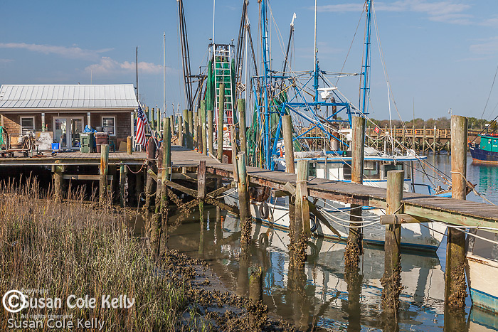 Shrimp boats in Shem Creek, South Carolina, USA